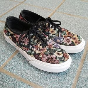 Vans Floral Tapestry Lo Pro Shoes Sneakers 9.5